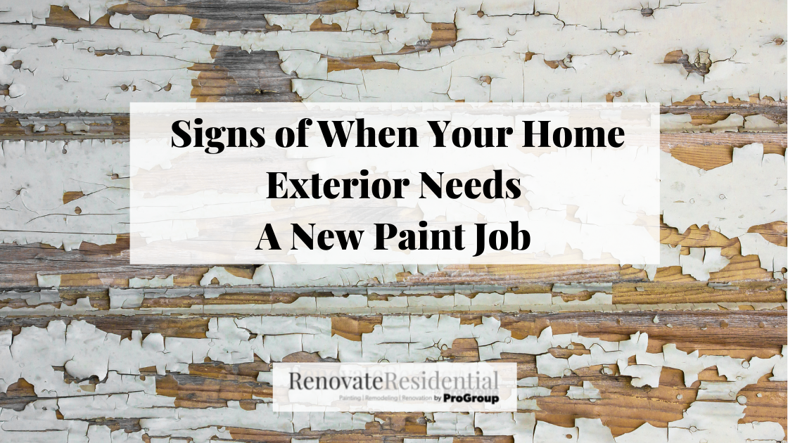 Signs of When Your Home Exterior Needs A New Paint Job